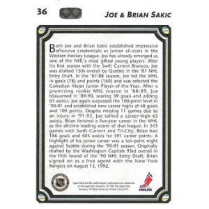 Joe Sakic / Brian Sakic