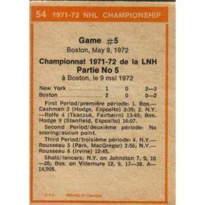 1971 -72 NHL Playoffs Game 5